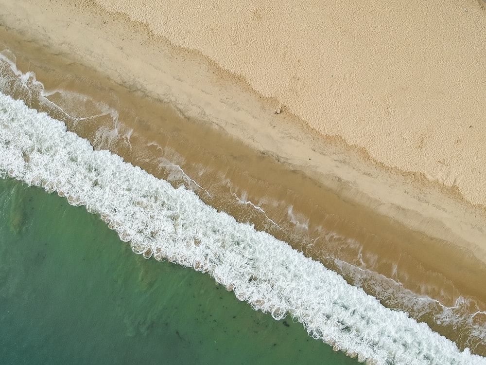 aerial photo of seashore during daytime