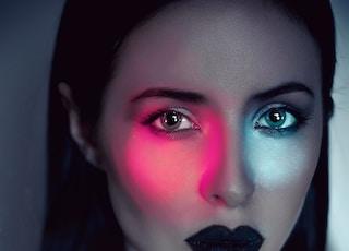 women's black lipstick