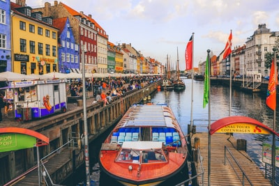 nyhavn, copenhagen denmark teams background
