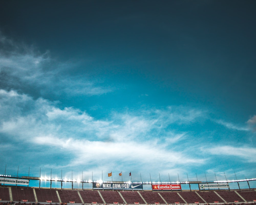 stadium under clear blue sky
