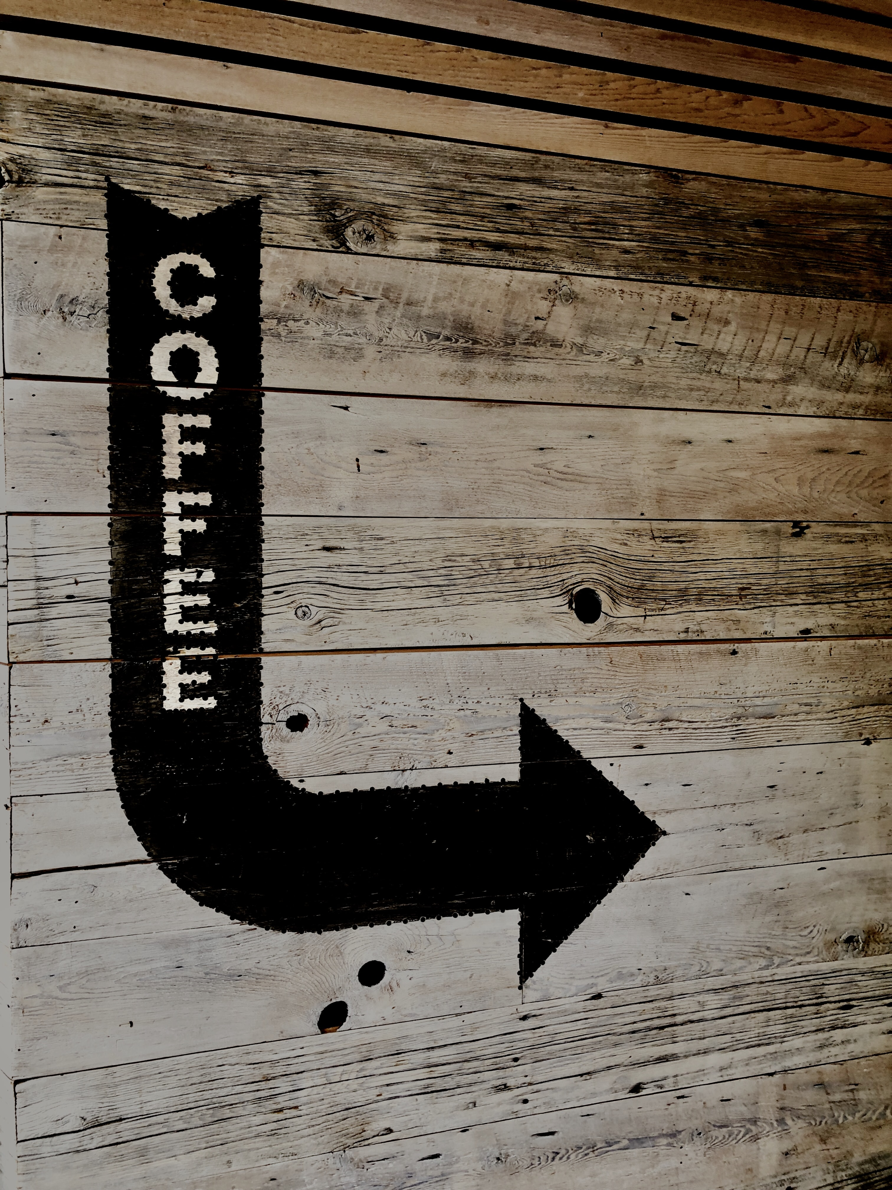 coffee arrow right sign