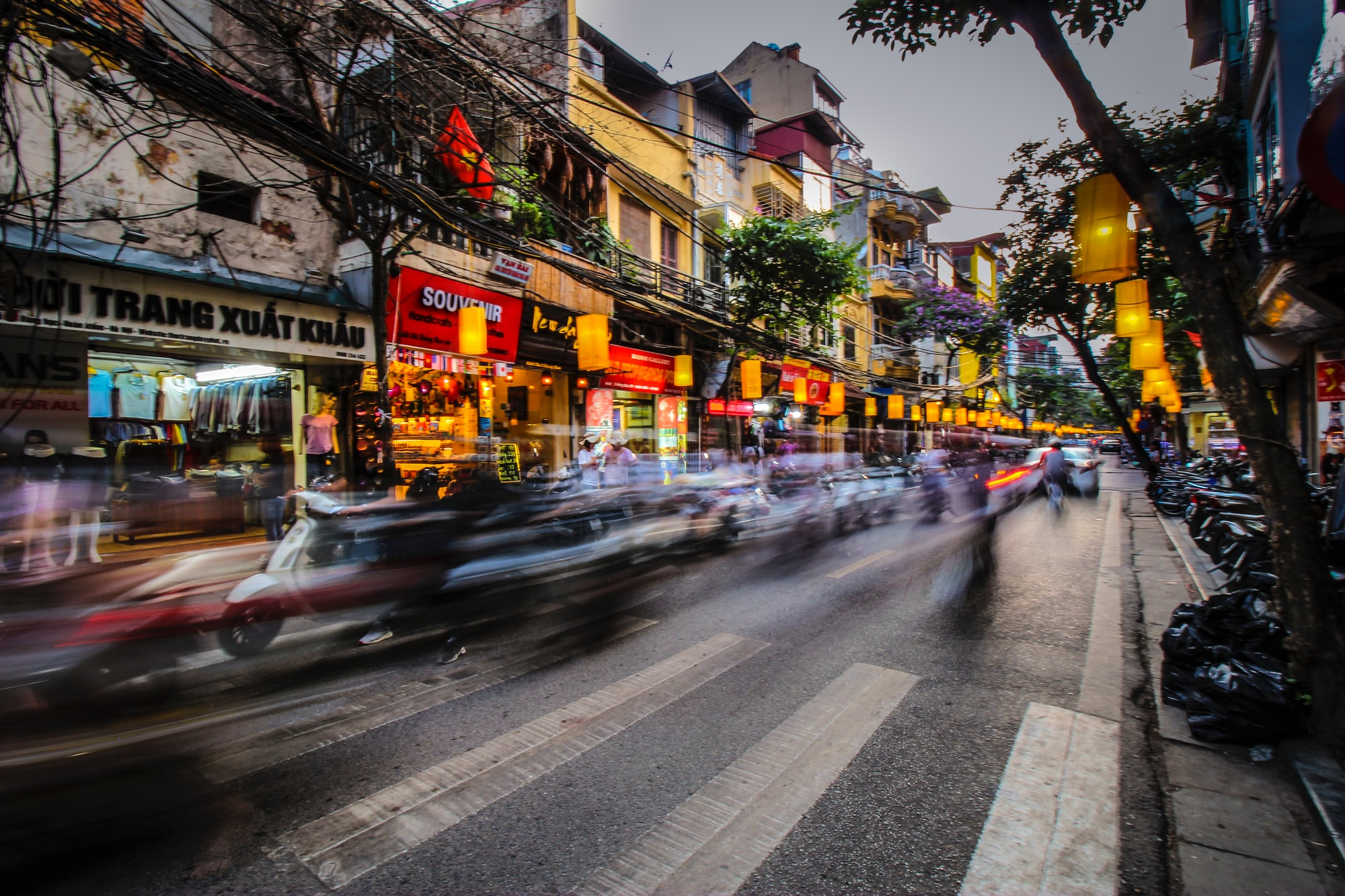 Busy night in Hanoi