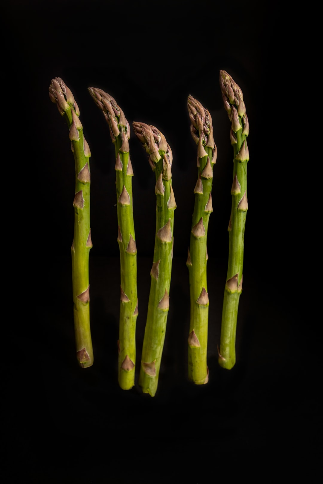 Asparagus photographed with a home made black box studio.