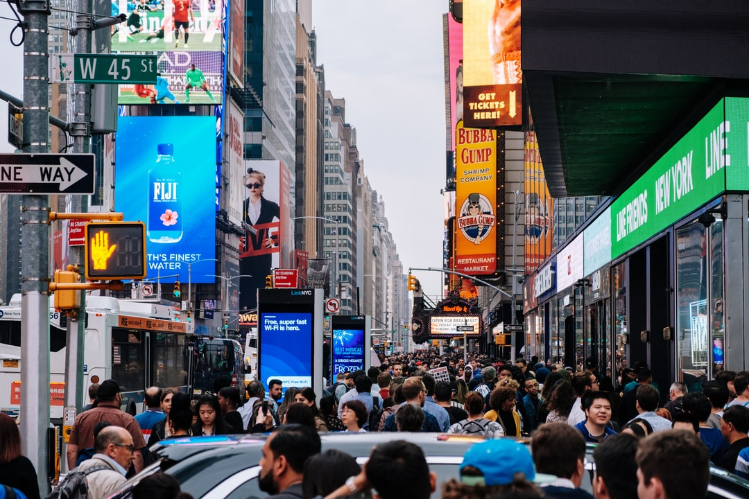 Here is a typical afternoon in Time Square New York! People people people everywhere you look, everywhere you walk. This is what New York City is all about.