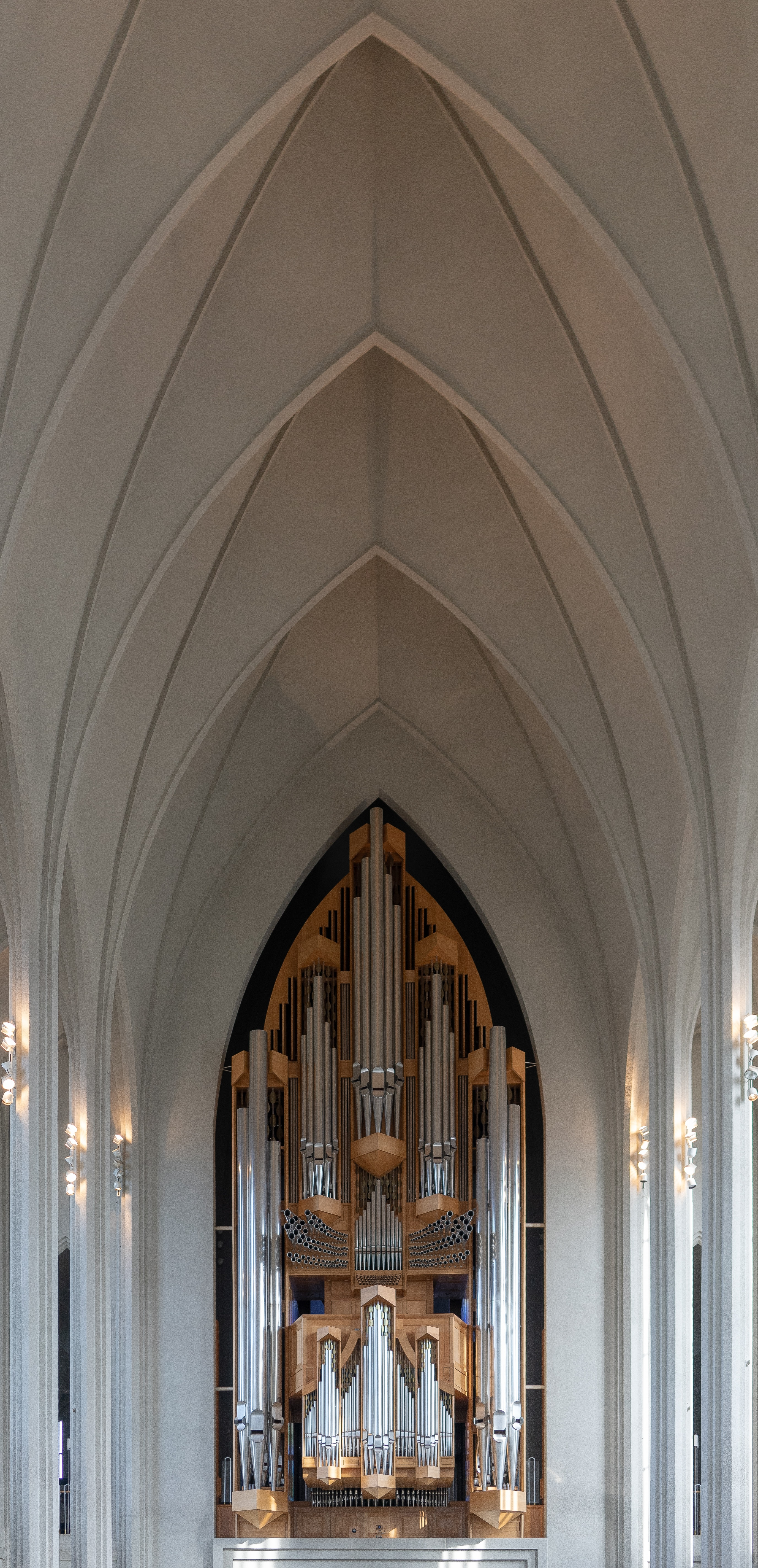gray painted cathedral interior