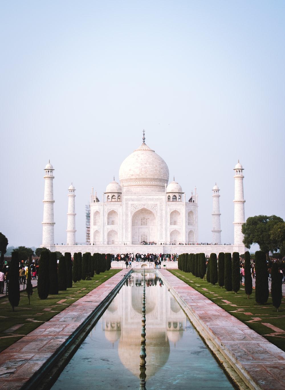 people at Taj Mahal, India