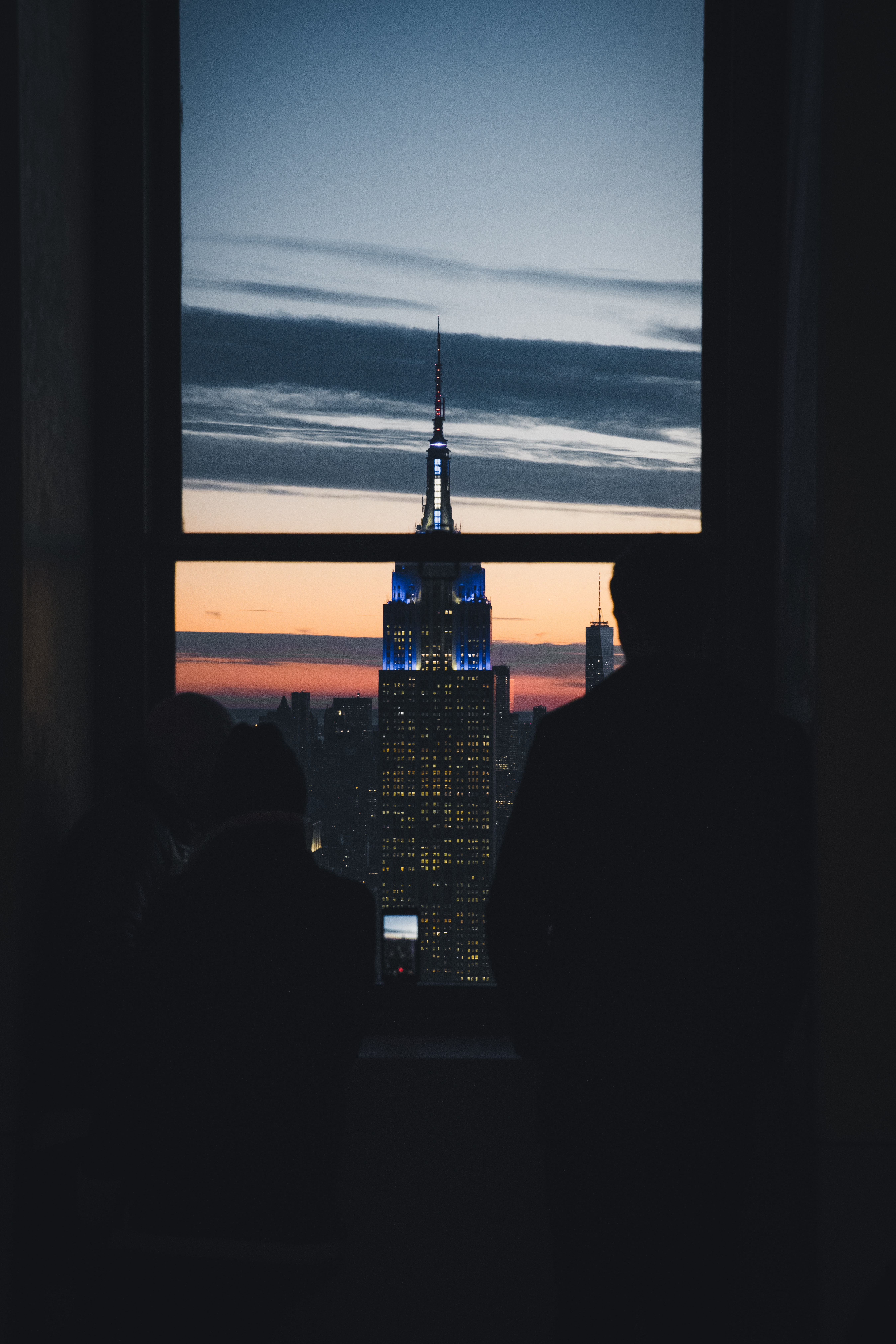 person's looking Empire State Building