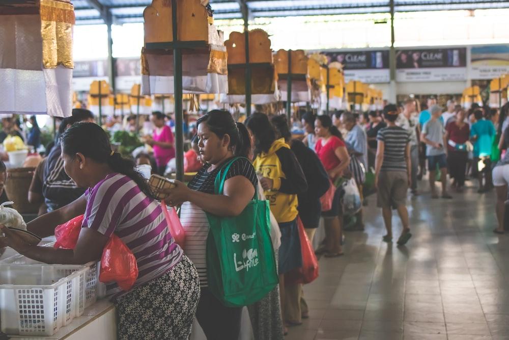 people inside the market