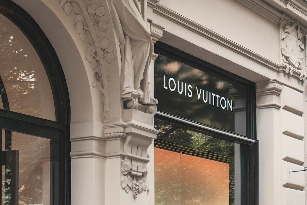 Louis Vuitton boutique signage on building
