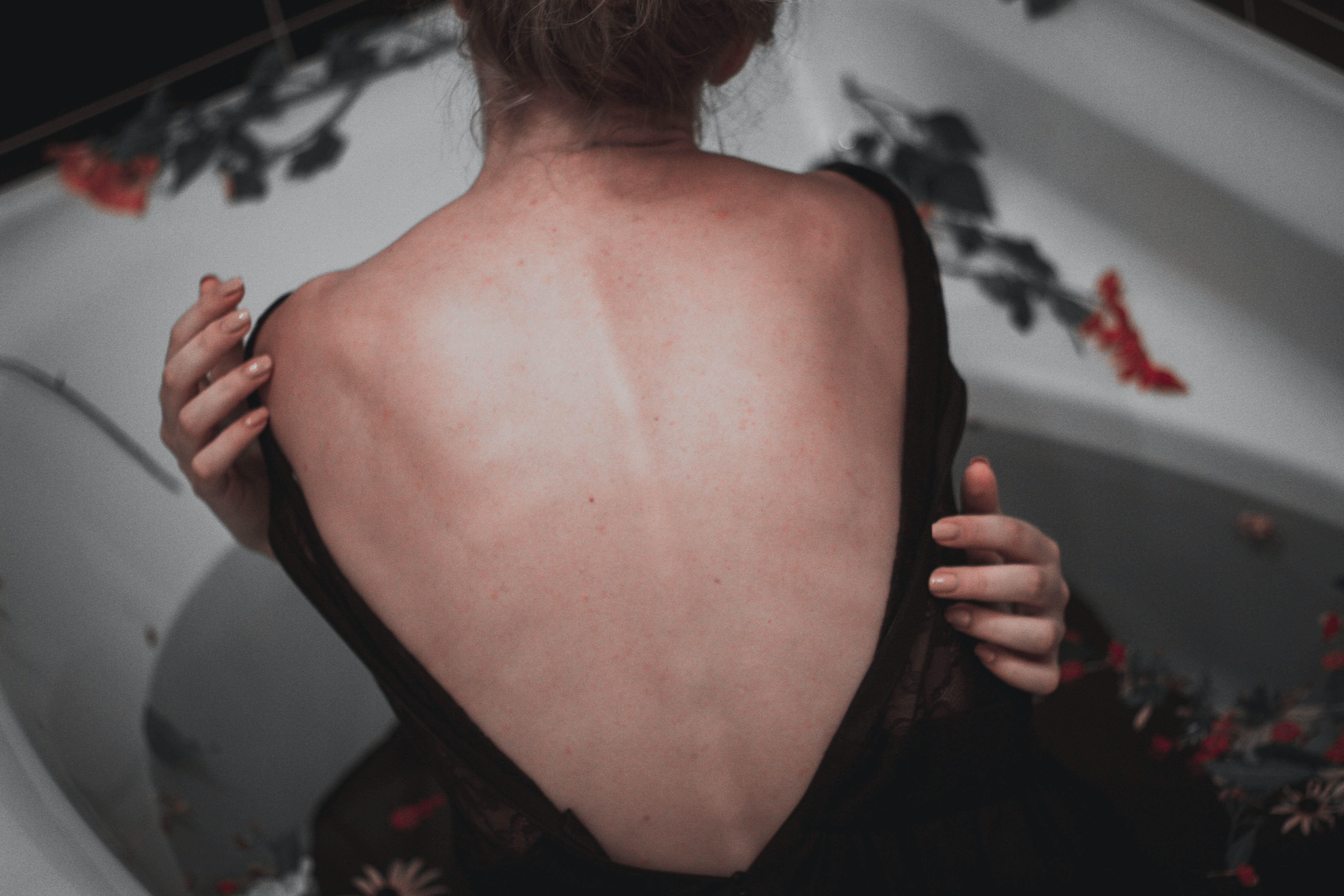 woman showing back