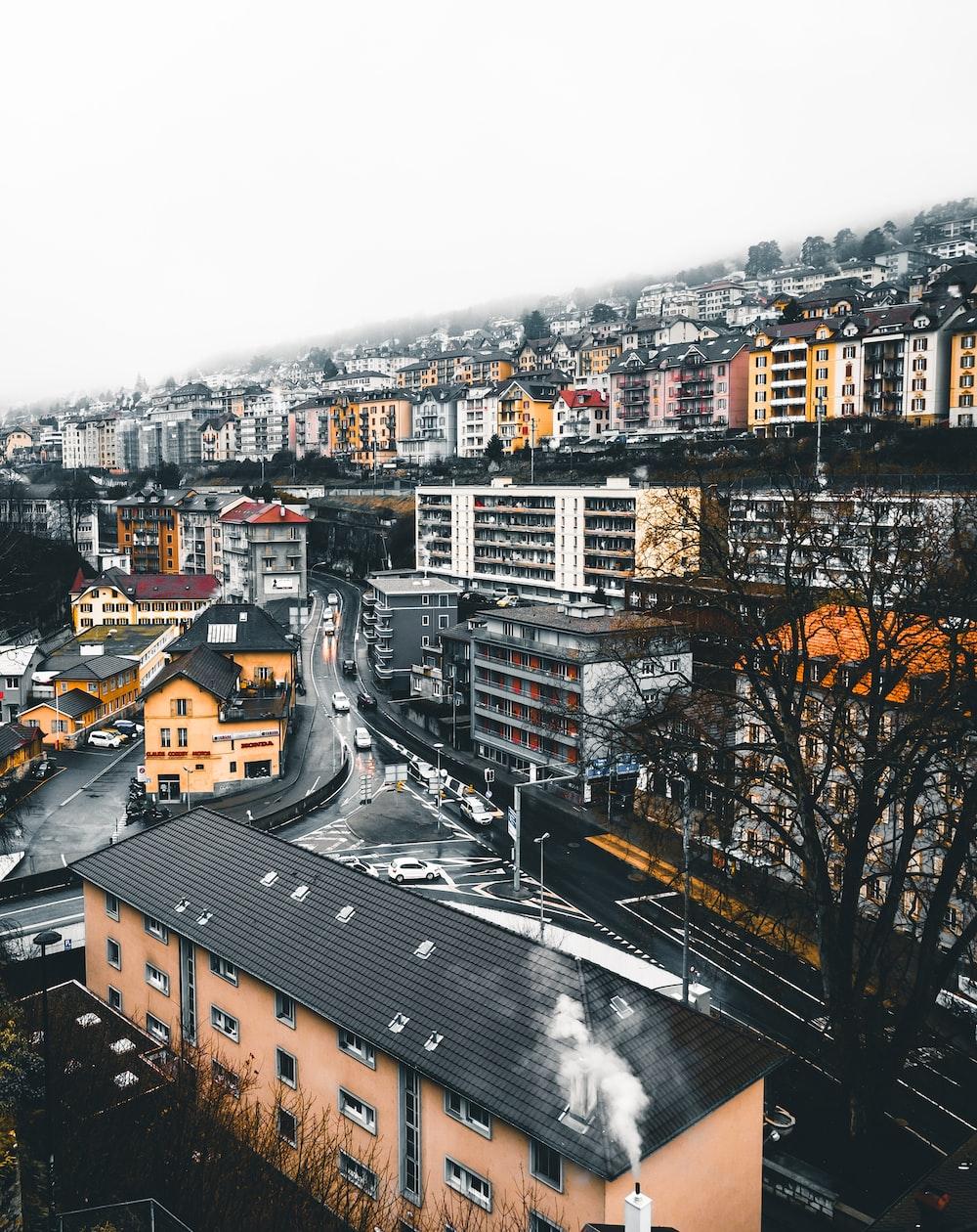 aerial shot photo of buildings