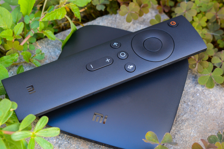 black media streaming device on gray ceramic tile