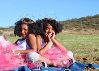 two girls wearing ballerina dress