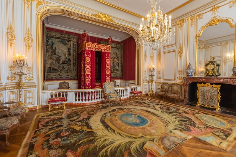 A regal room with expensive carpets