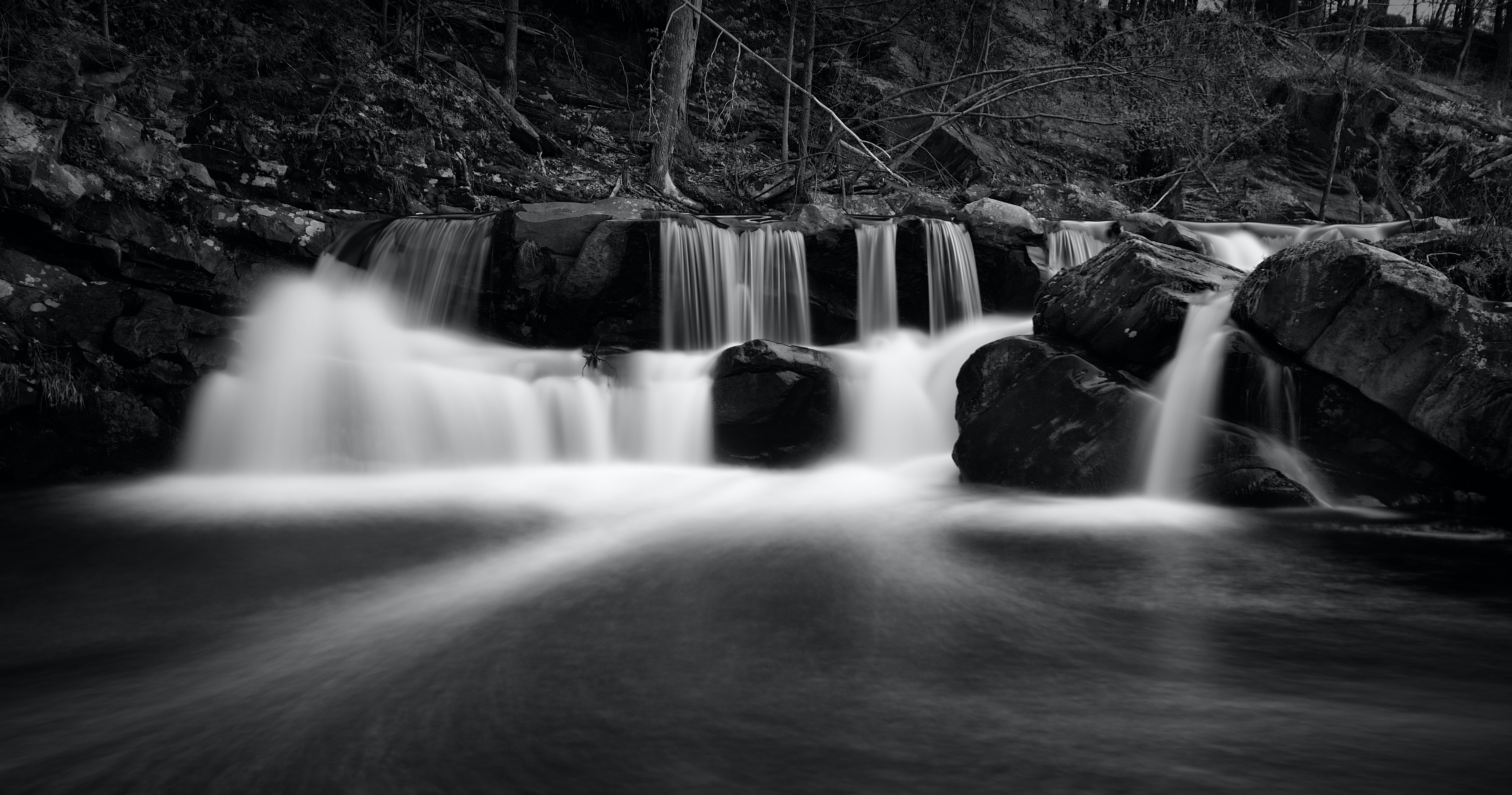 time lapse photography of cascading waterfalls