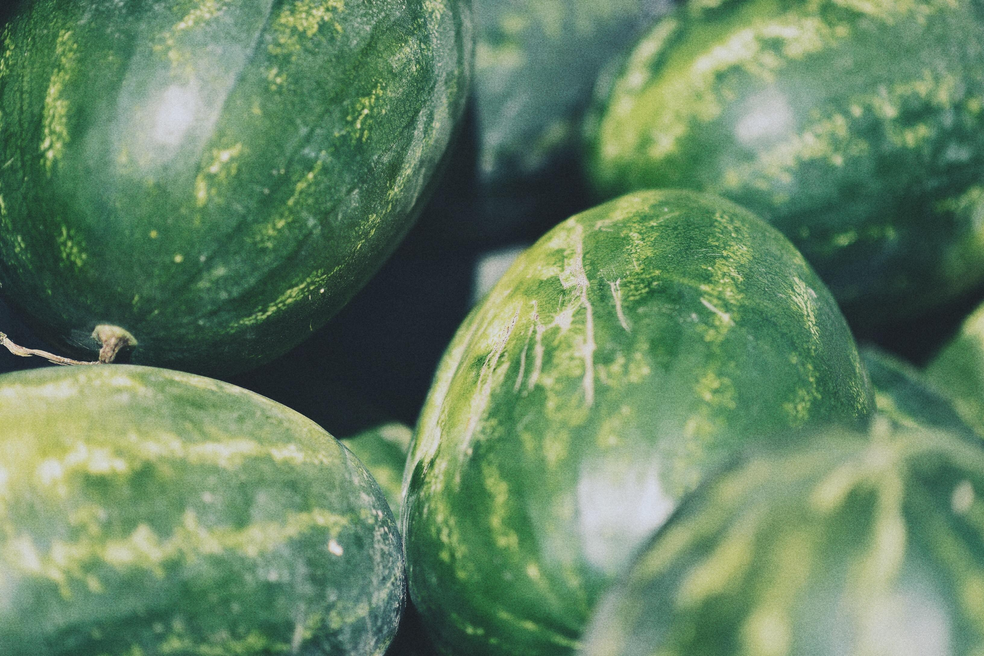 selective focus photo of watermelons