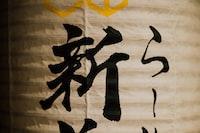 kanji script-printed paper lanter n