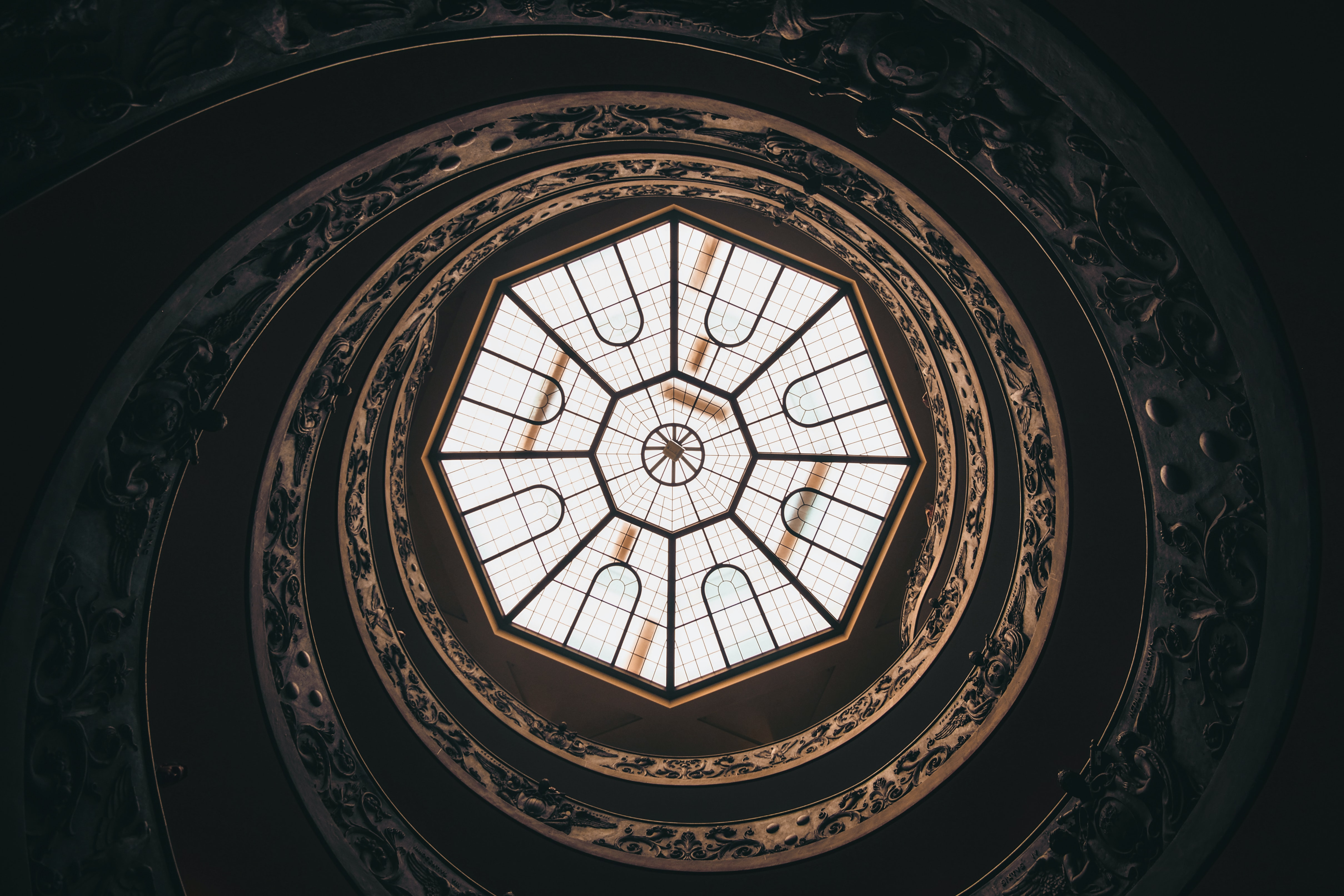 round ceiling with window