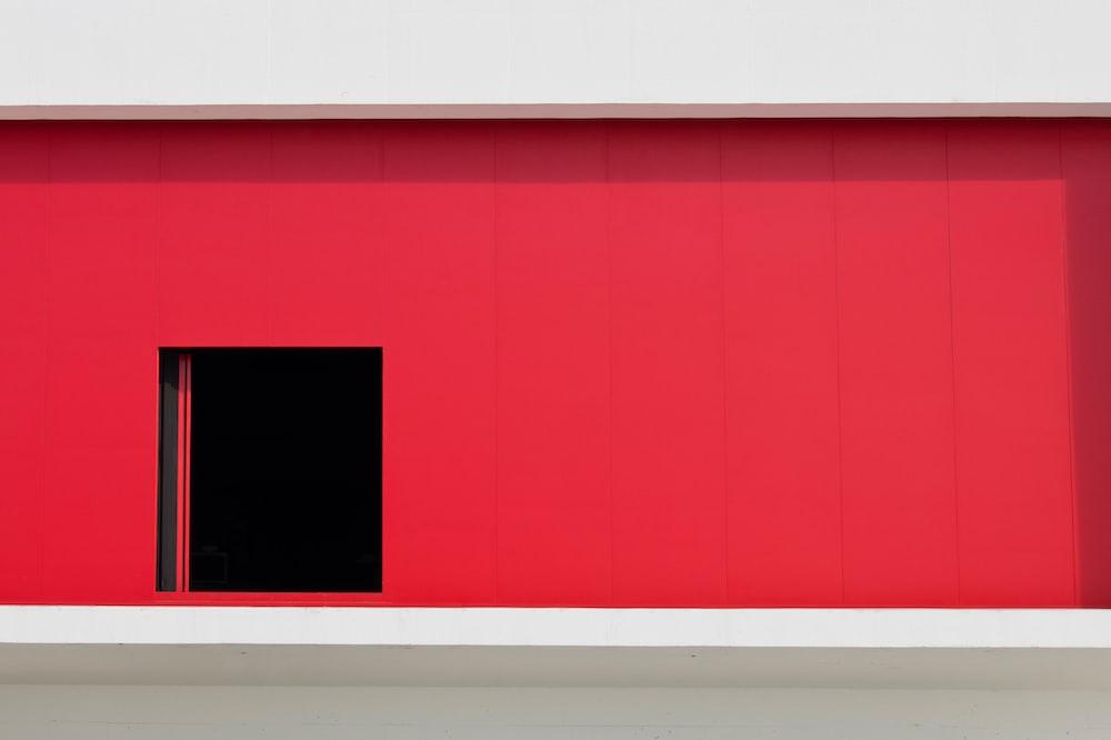 red building with door