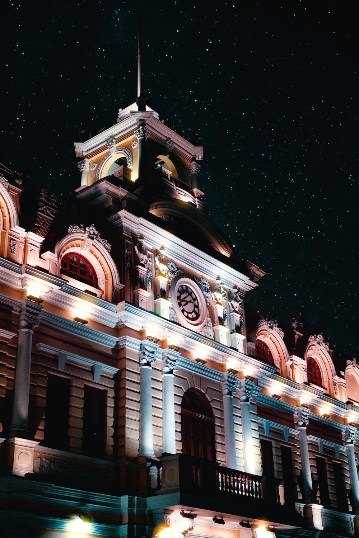 man's eye view of mansion during night