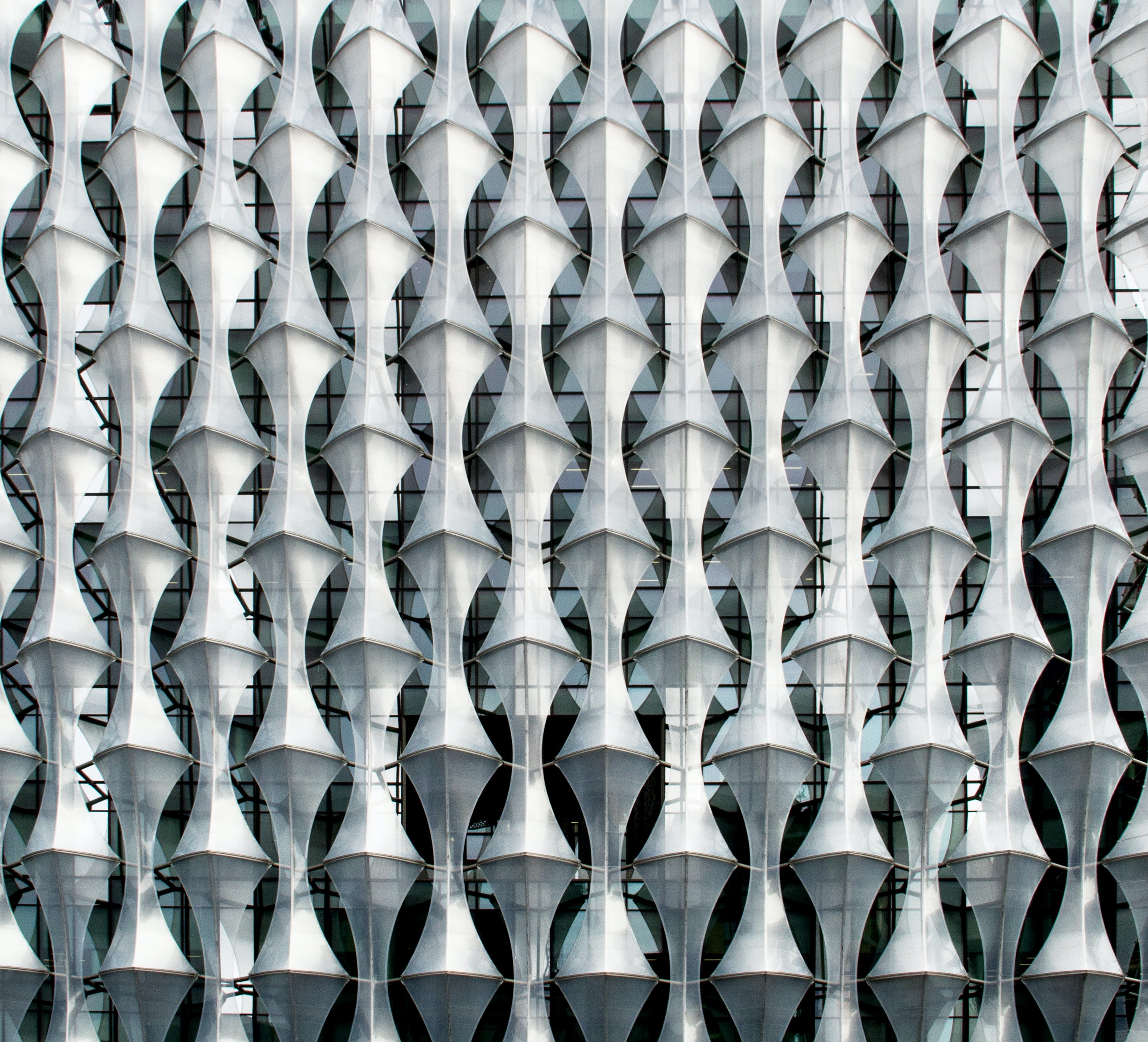 gray cutout building