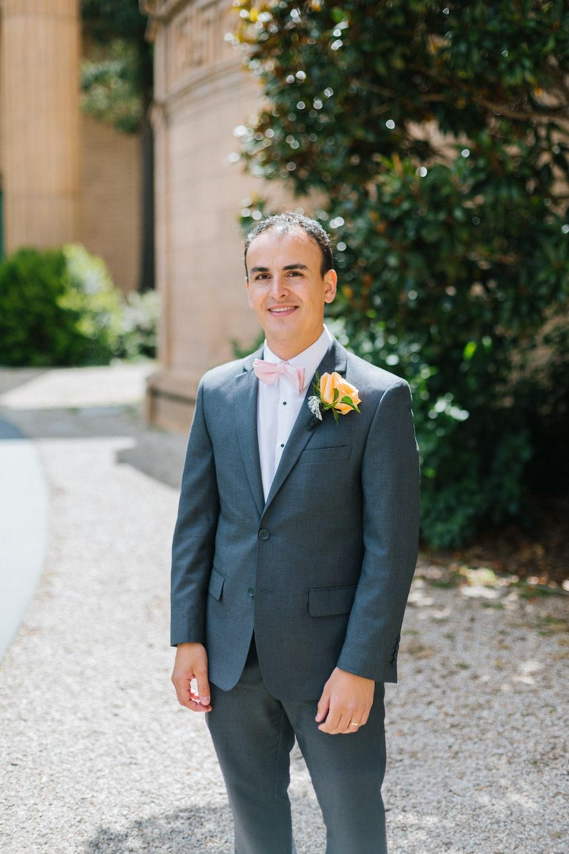 man wearing gray suit
