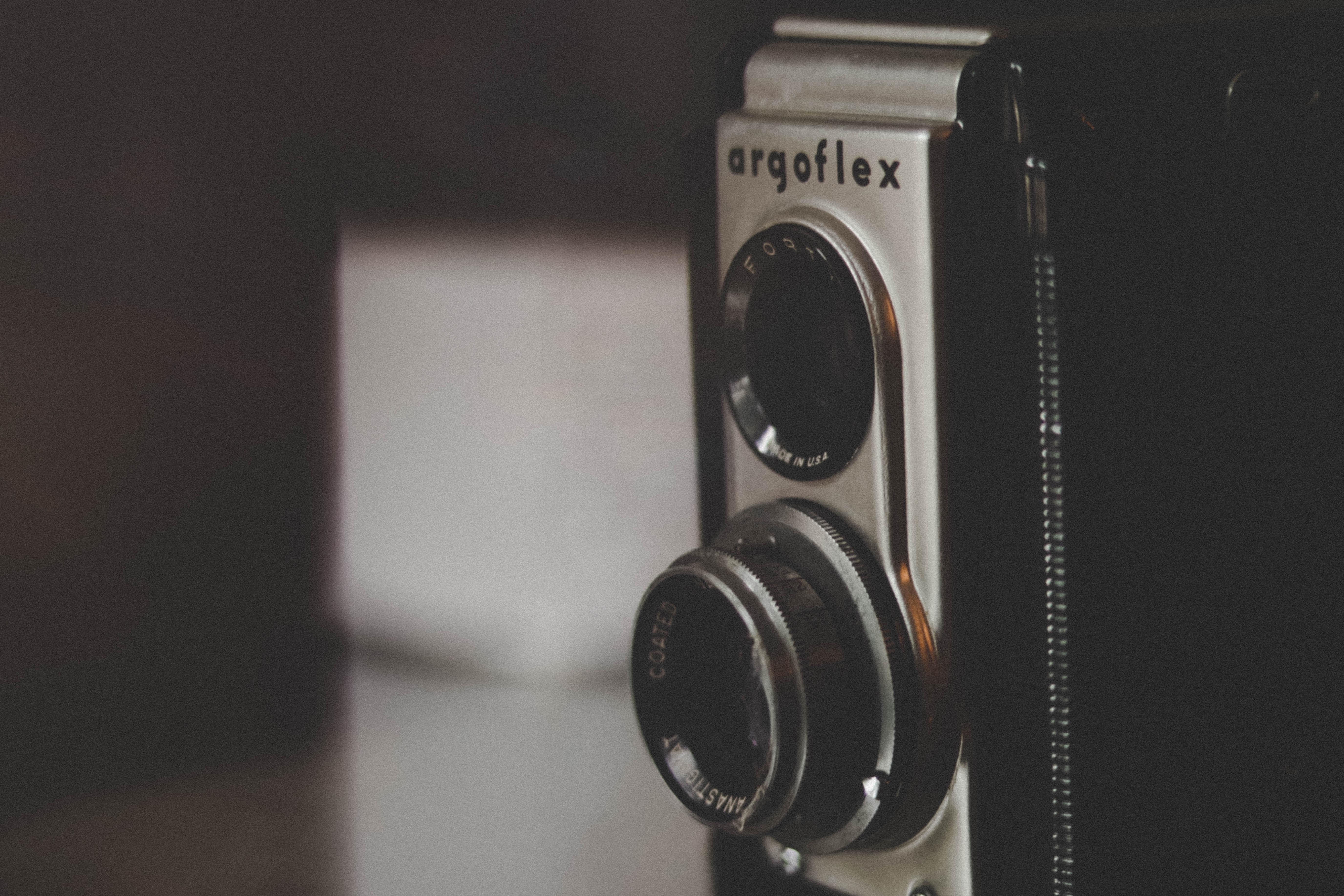 selective focus of gray Argoflex camera