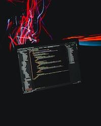 opened black laptop computer