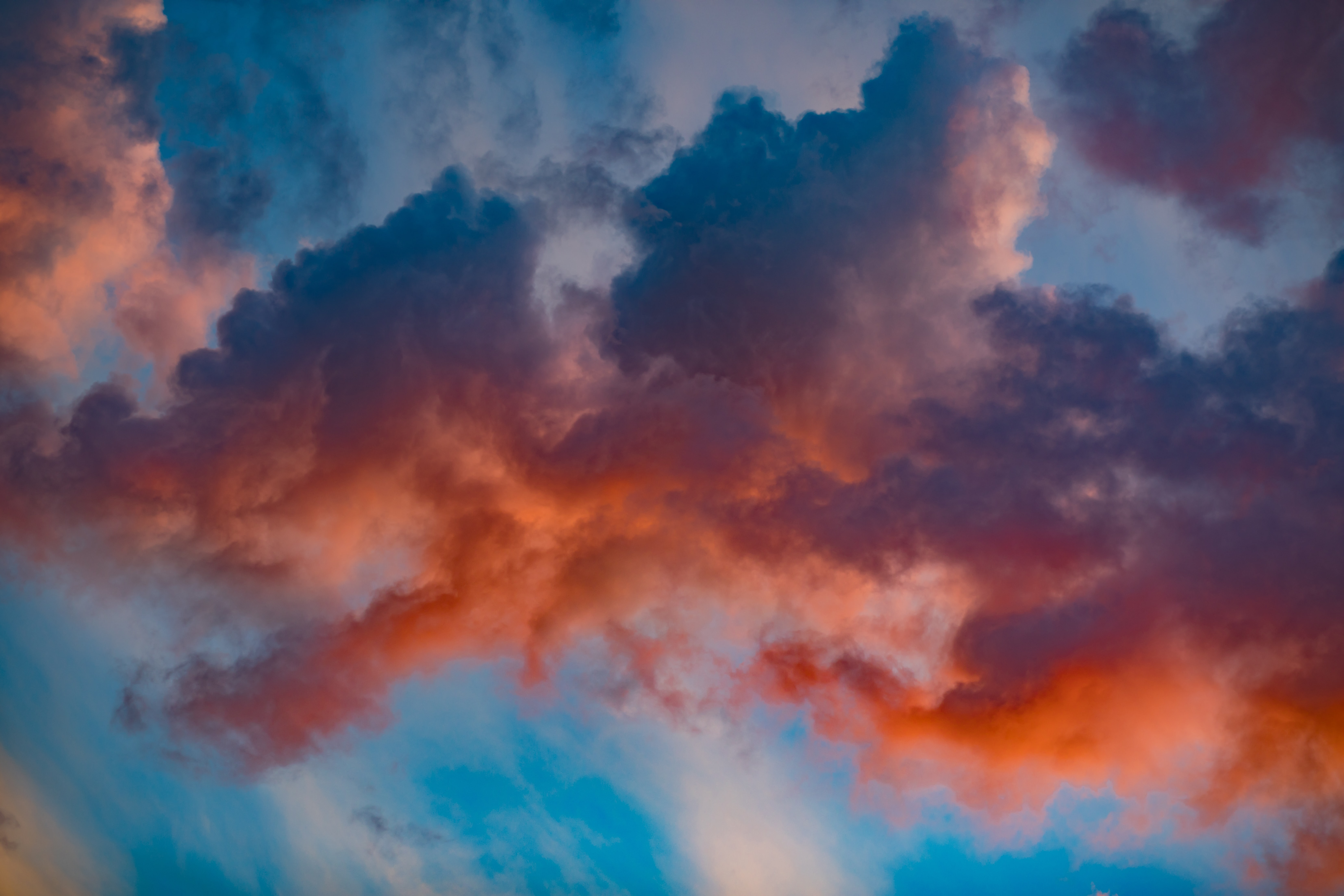red and blue clouds