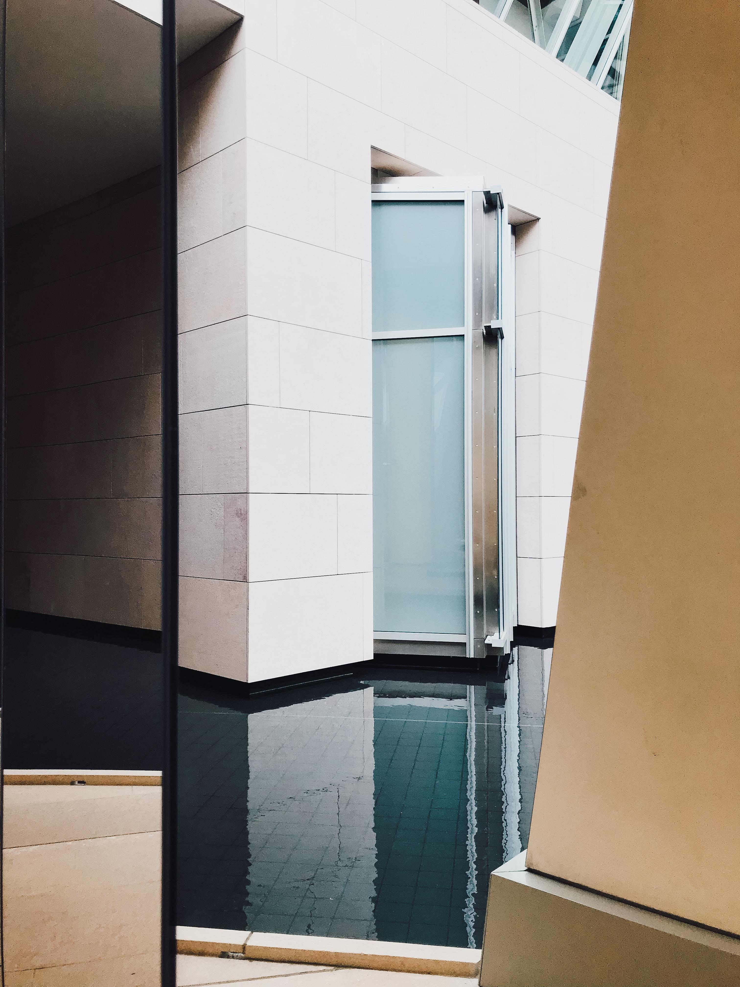 white tiles building