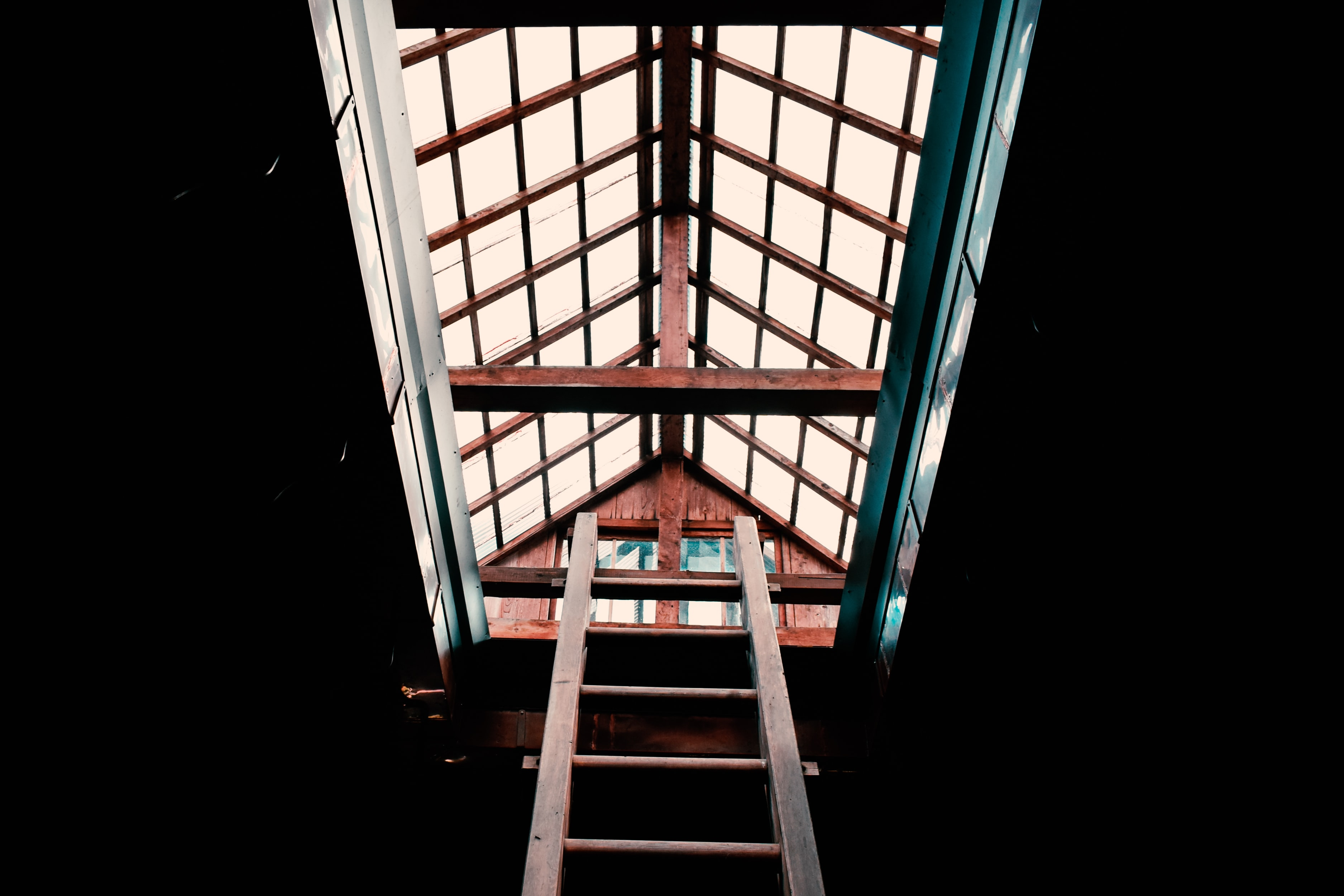 ladder and attic room
