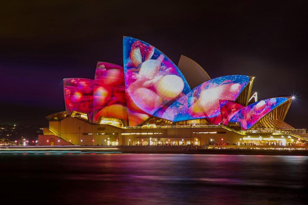 Sydney Opera House, Australia an nighttime