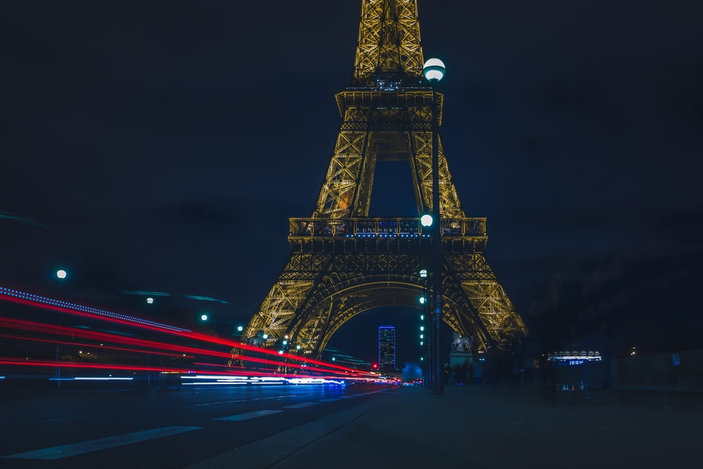time-lapse photo of Eiffel Tower, Paris