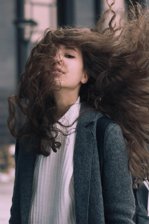 women's gray coat