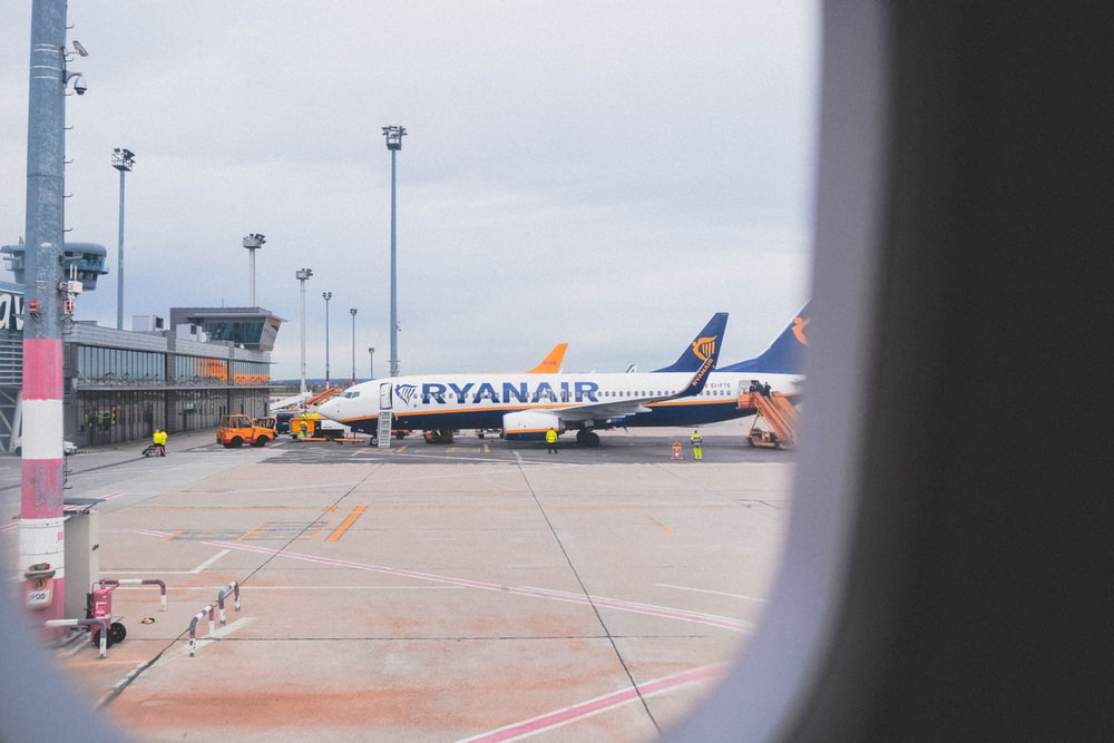 Ryanair airliner on airport