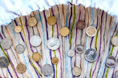 assorted values and denominations of coins coins zoom background