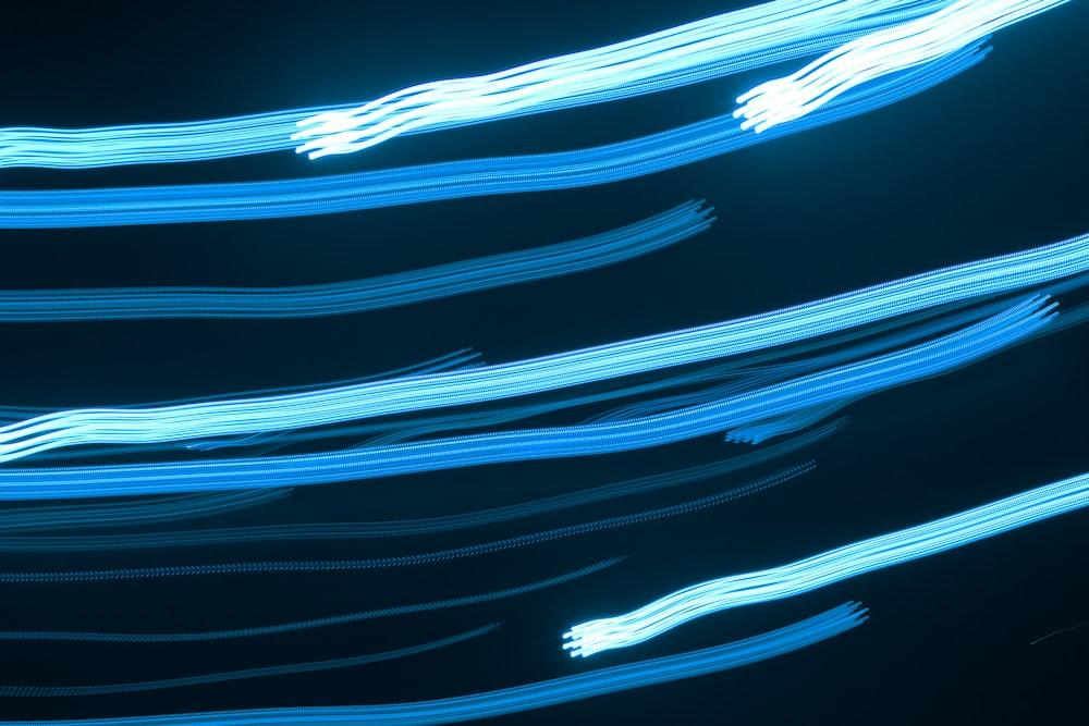 timelapse photo of blue lights