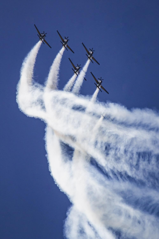 five jets on sky