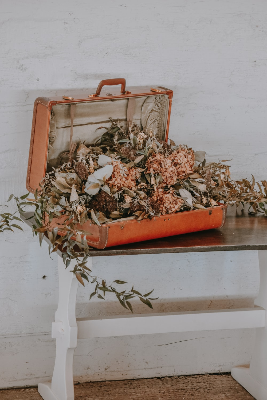 orange flowers on orange case