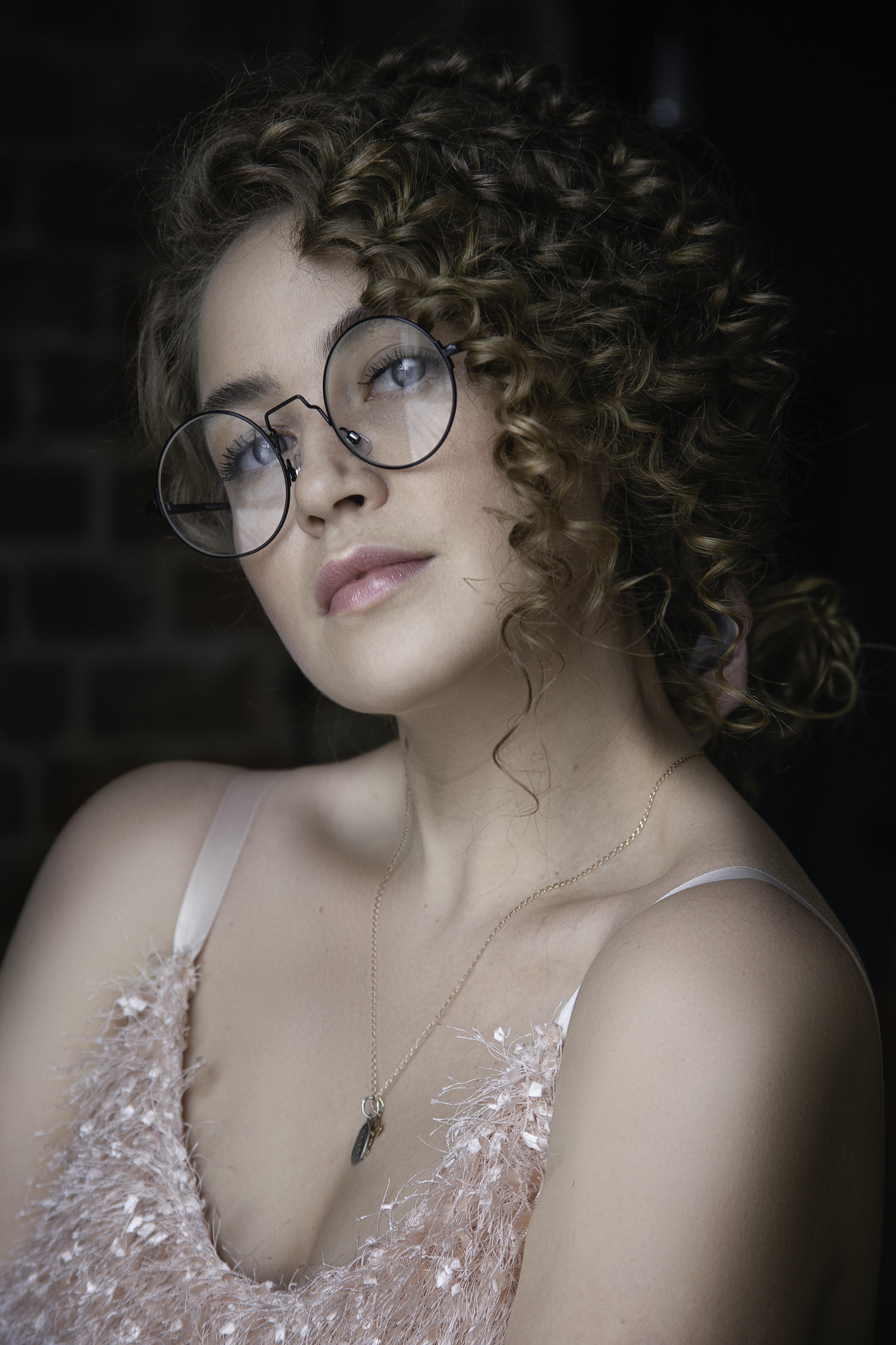 women's pink fur spaghetti strap top