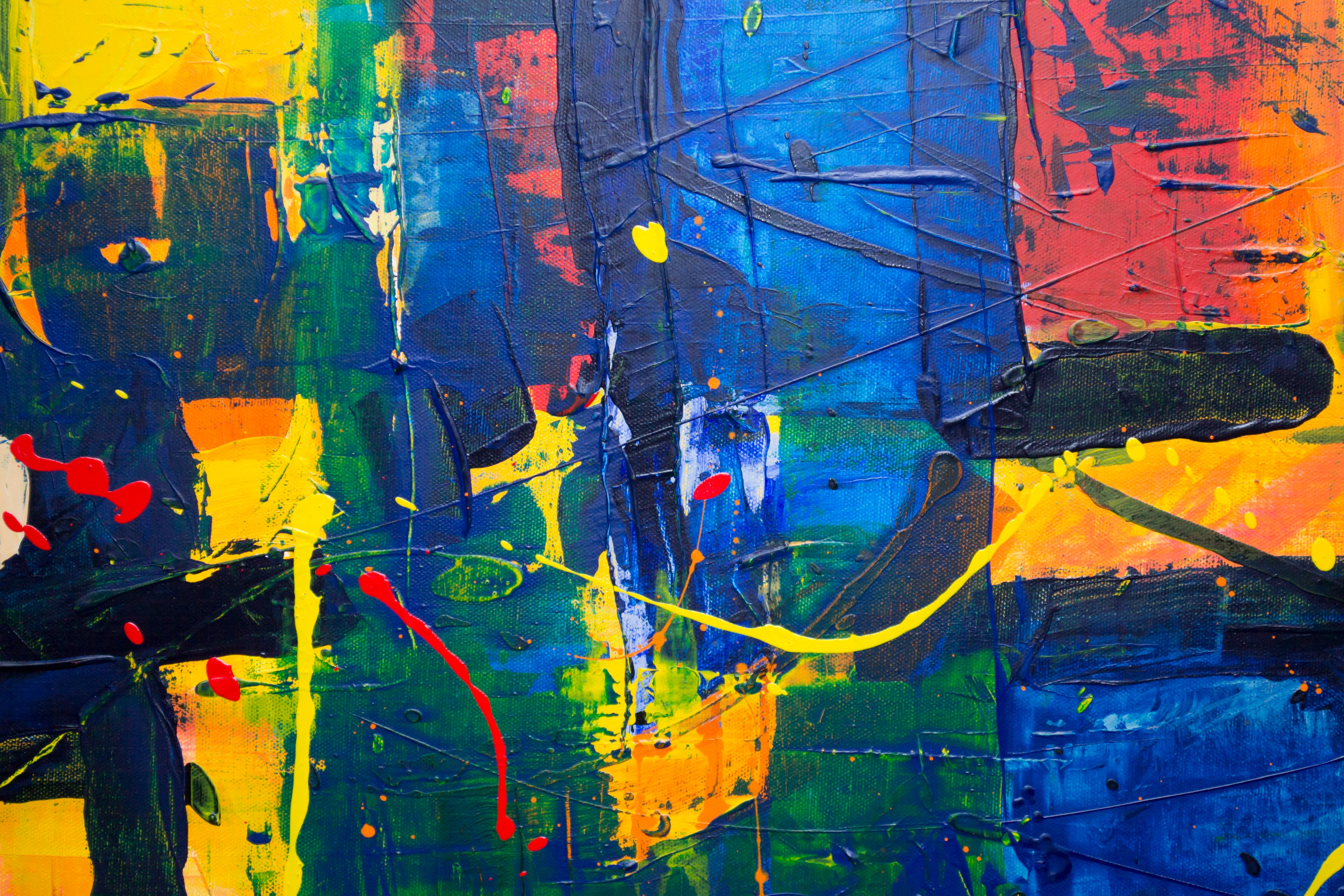 multicolored abstract artwork