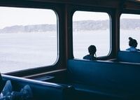 Snapped this moody shot while taking my daughter on her first ferry ride.