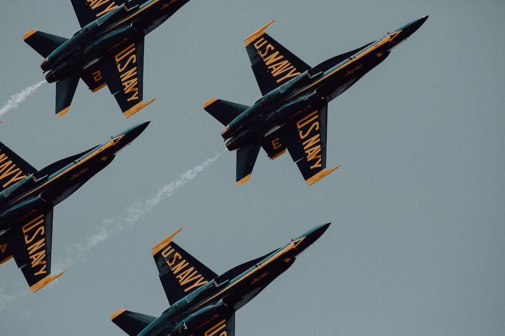 U.S. Navy aerobatics during daytime