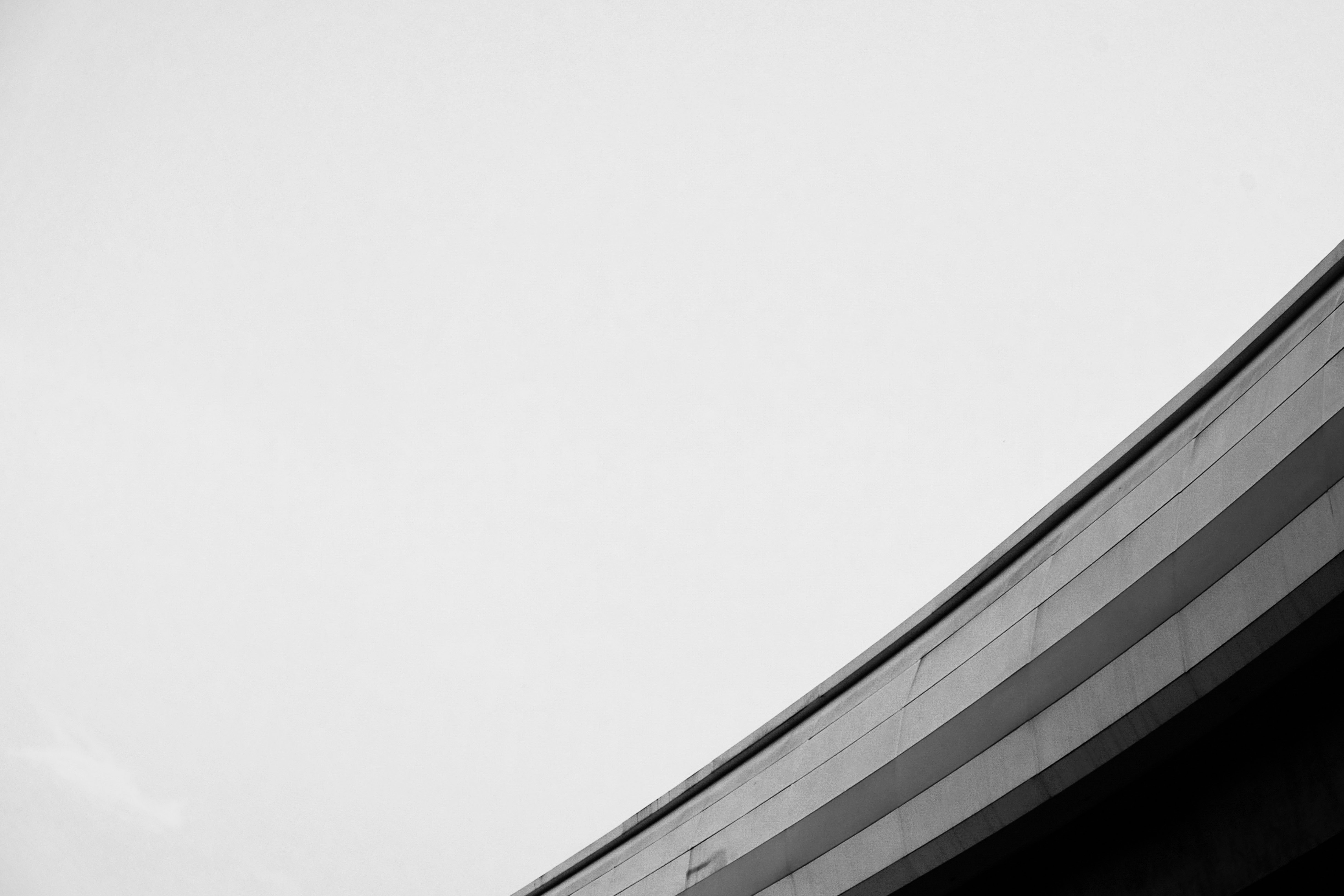 gray and black concrete roof