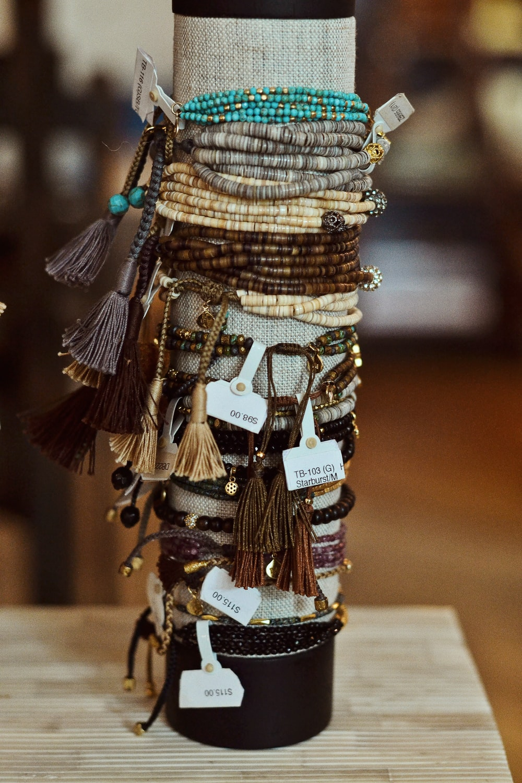 assorted-color bracelet lot