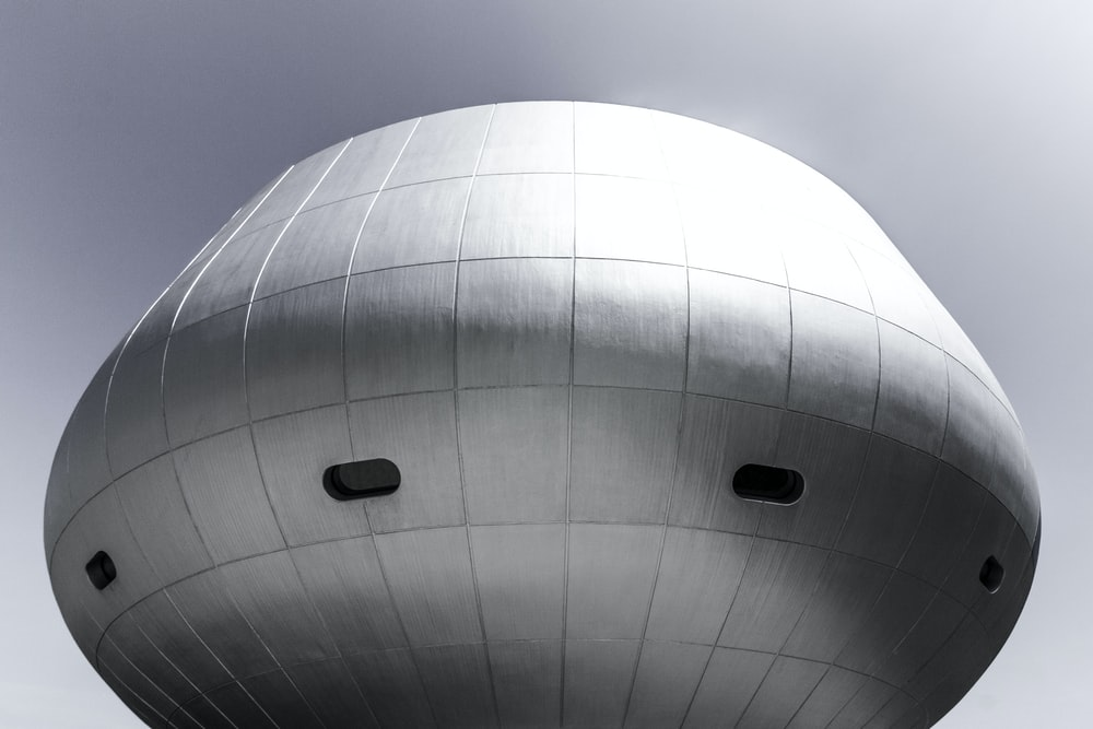 architectural photography of gray dome roof