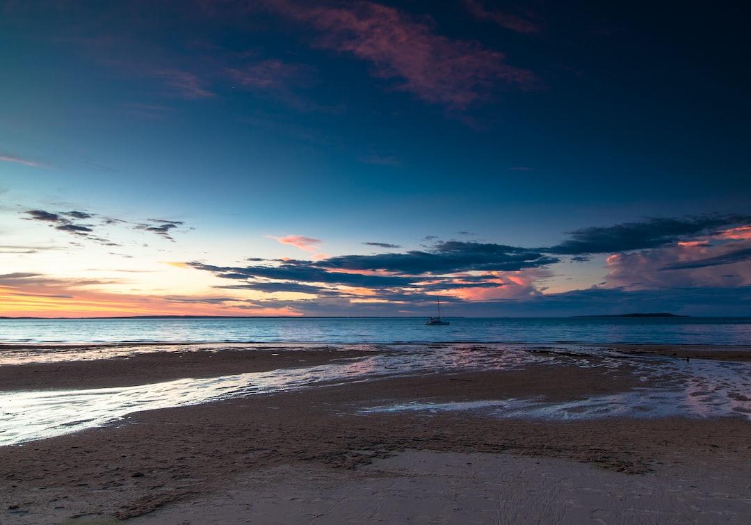 Beautiful sunset on Frazer Island…