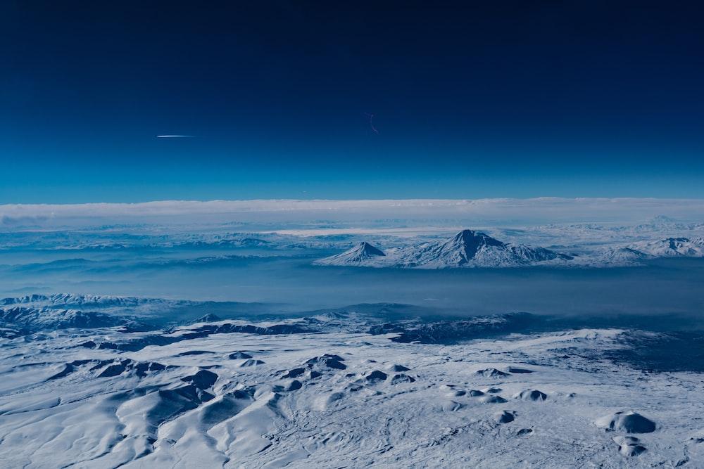 bird's-eye view photography of iceberg