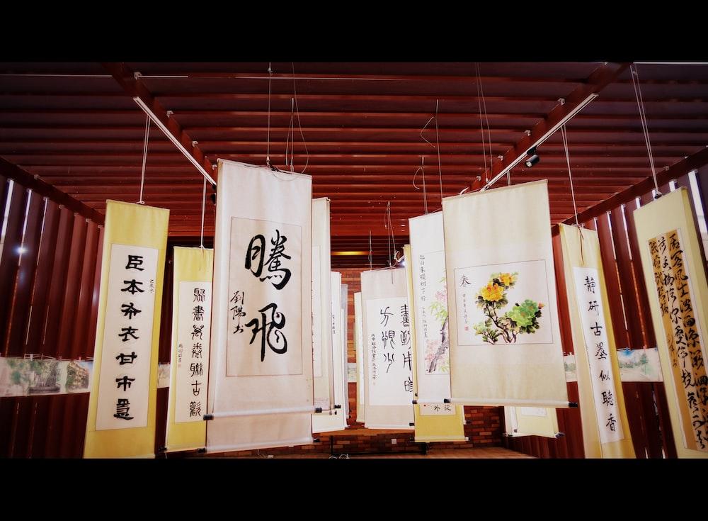 hanging Kanji script signage screengrab