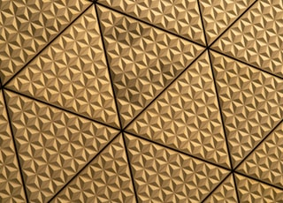 Tessellated tiles on the walls of Tokyo Big Sight